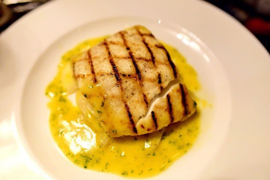 Fillet of Halibut, Salsify, Orange and Chervil Butter Sauce with Roasted Veg - Hunter 486 - Arch London - motherhooddiaries