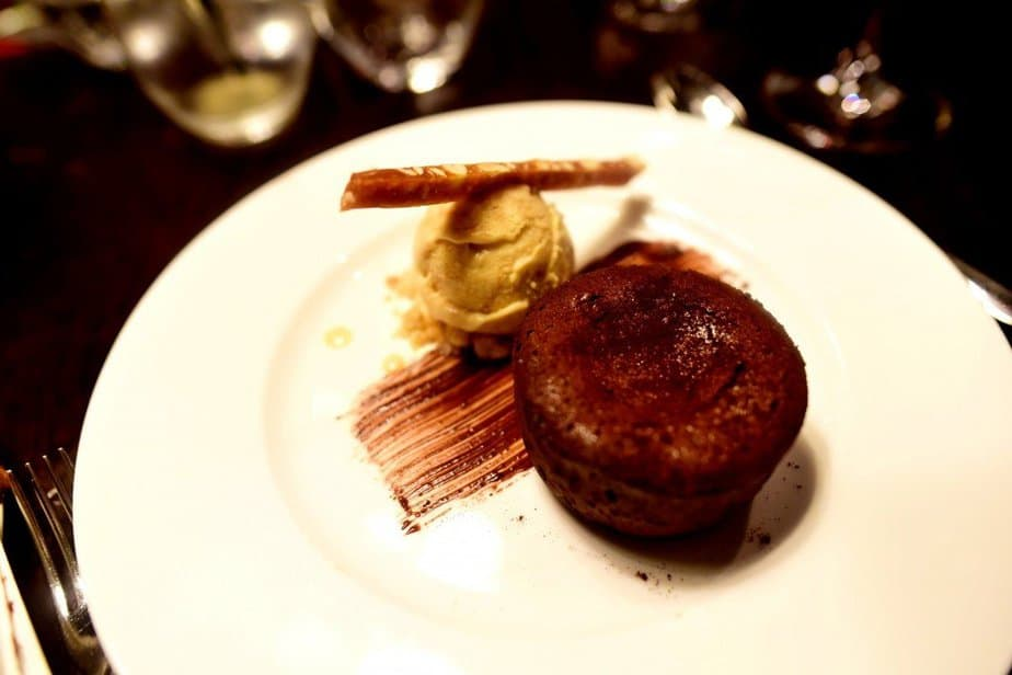 Chocolate Fondant, Salted Caramel Ice Cream, Peanut Brittle - Hunter 486 - Arch London - motherhooddiaries