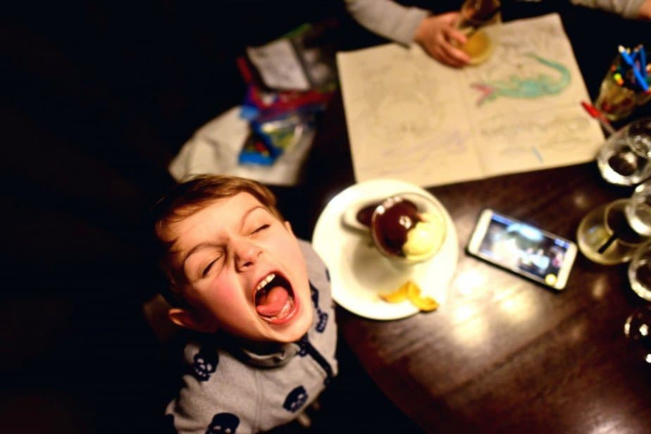 Aidan enjoying ice cream - Hunter 486 - Arch London Hotel - motherhooddiaries