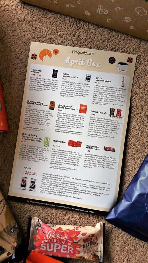 April 2017 Degustabox Product Review - motherhooddiaries