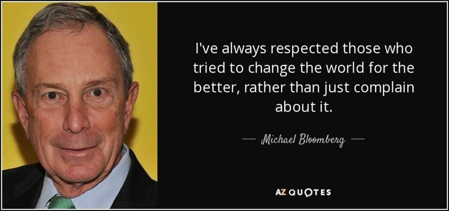 Michael Bloomberg quote - motherhooddiaries
