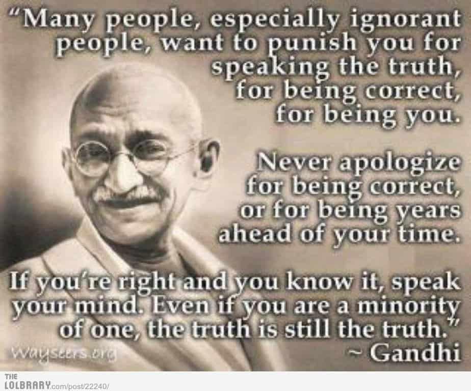 Ghandi quote - motherhooddiaries