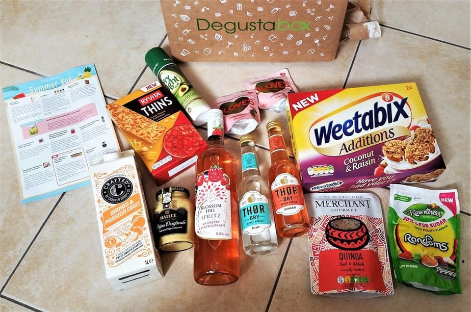July 2017 - Summer Degustabox Review - motherhooddiaries