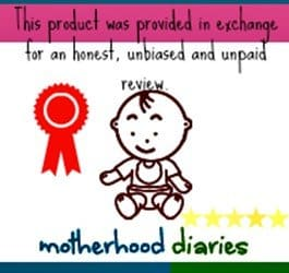 This product was provided in exchange for an honest, unbiased and unpaid review - motherhooddiaries
