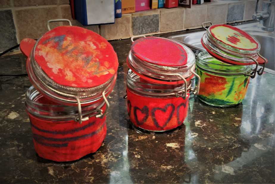 Decorating your own jam jars - motherhooddiaries