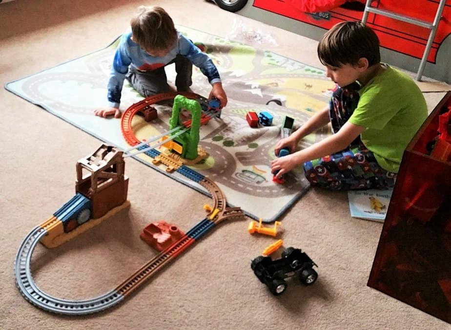 Track is built - Why kids love Thomas & Friends Trackmaster Playsets - motherhooddiaries
