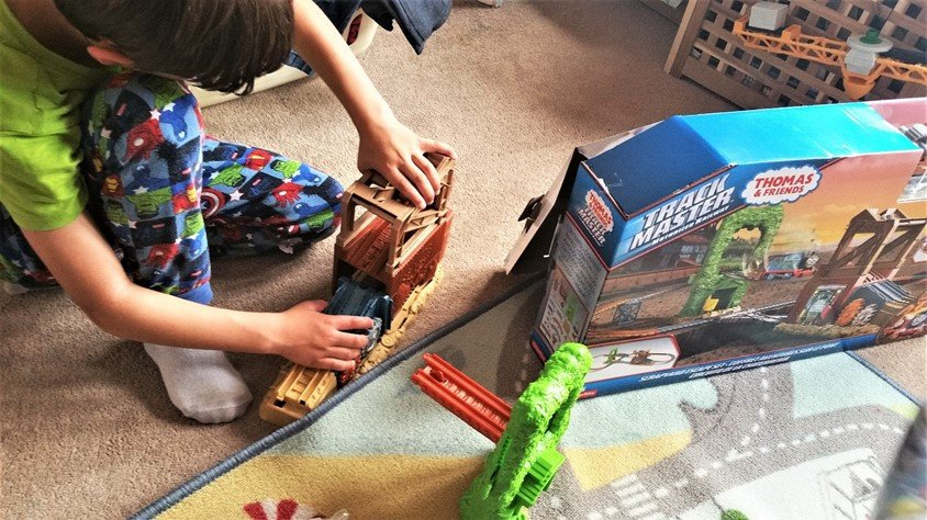 Building the track - Why kids love Thomas & Friends Trackmaster Playsets - motherhooddiaries