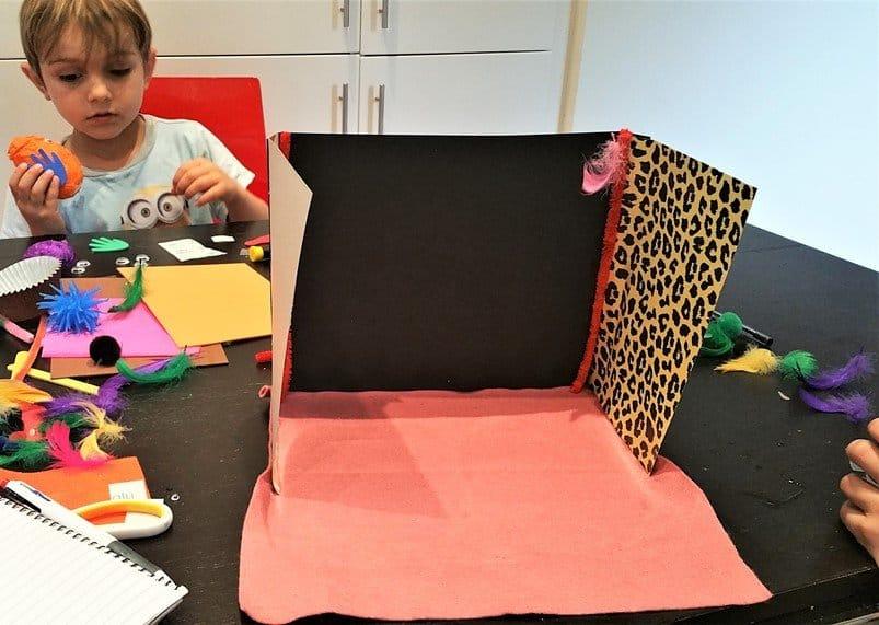 Form the house - Craft Merrily Easy Halloween Monster House - motherhooddiaries
