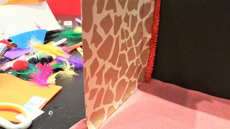 Allow the sides to dry before you move on - Craft Merrily Easy Halloween Monster House - motherhooddiaries