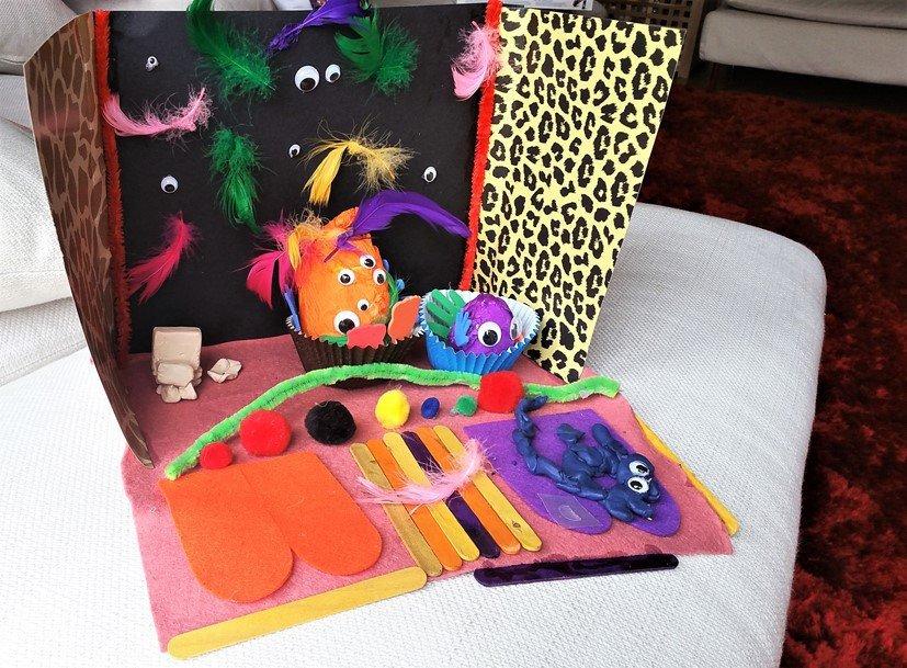 The family monster house! - Craft Merrily Easy Halloween Monster House - motherhooddiaries