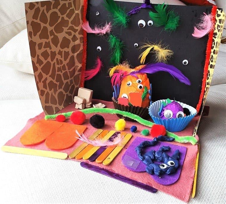 Easy Halloween Monster House - Craft Merrily Easy Halloween Monster House - motherhooddiaries