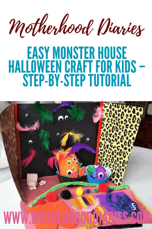 Easy Monster House Halloween Craft for Kids – Step-by-step tutorial - motherhooddiaries