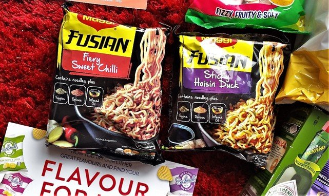 August 2017 Degustabox Review - Maggi Fusian Fiery Sweet Chilli and Sticky Hoisin Duck