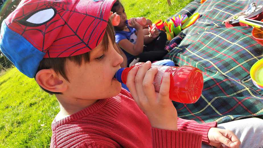 Aron enjoying a Fruit Bottle - motherhooddiaries