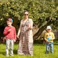 Me and the boys enjoying fruit shoot feature image - motherhooddiaries
