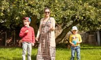 Me and the boys enjoying fruit shoot feature image - motherhooddiaries