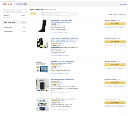 Amazon Gift List