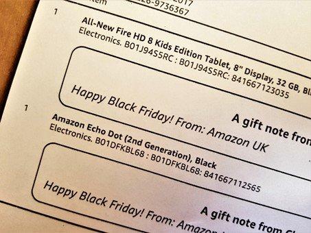 Amazon gift note