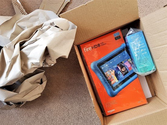 Unboxing Amazon gifts
