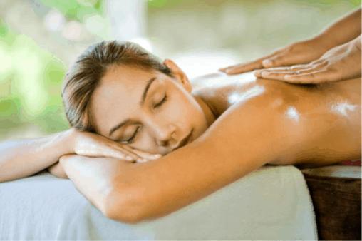 A good skincare regimen (back massage)