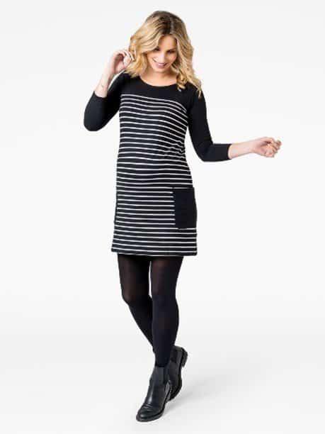 Breton Stripe Maternity Mini Dress