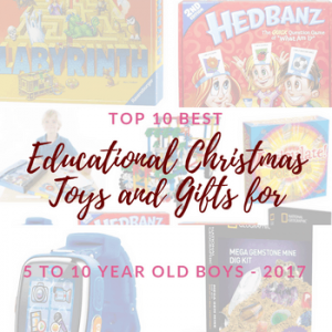Top 10 best educational Christmas toys for 5 to 10 year old boys