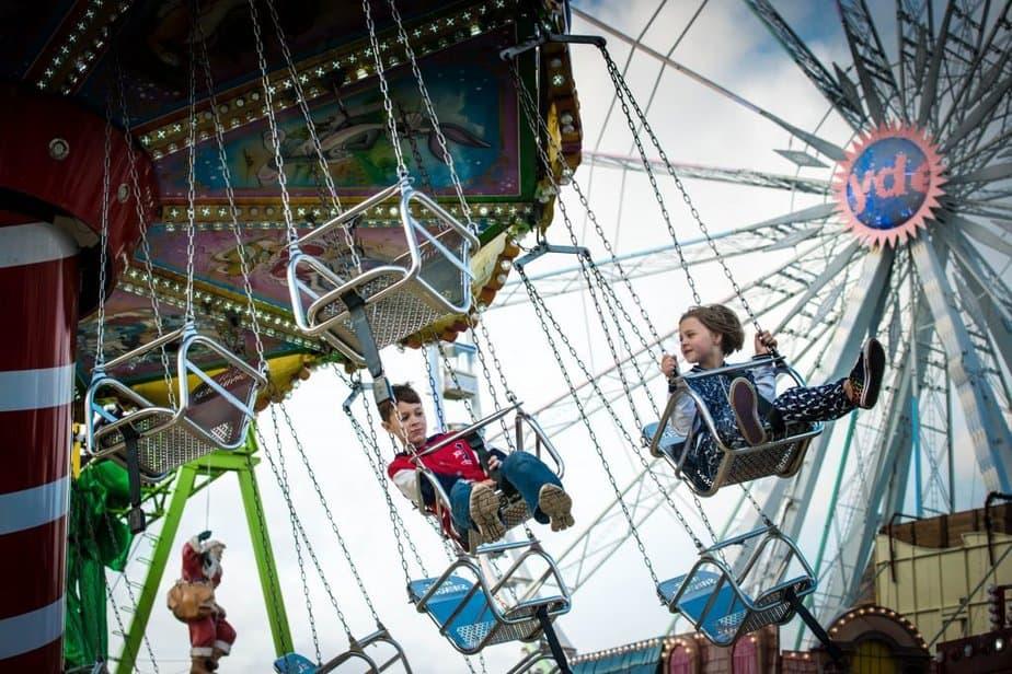 Fairground ride at winter wonderland