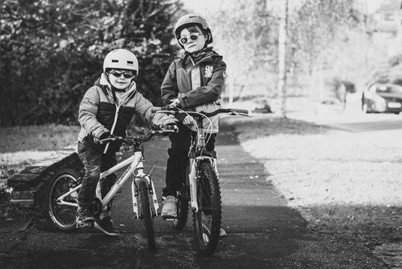 Aron and Aidan biking - motherhooddiaries