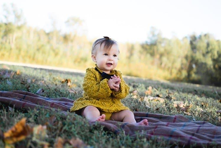 Child at picnic - temperature