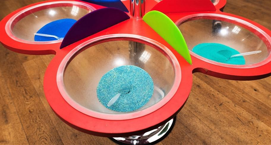 Sandy Art bowls of sand