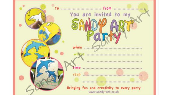 Sandy Art invitation