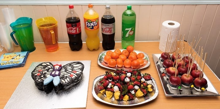 Adults party food table