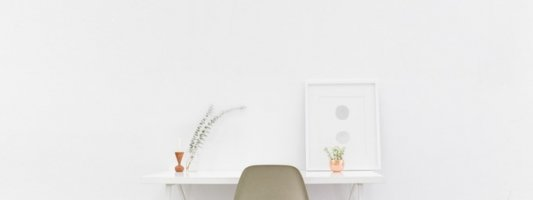 Interior design minimalism - desk and chair