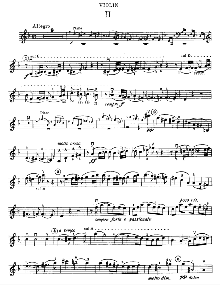 Cesar Franck sonata in A major number 2