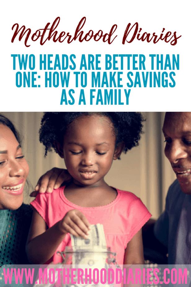 How to make savings as a family - motherhooddiaries