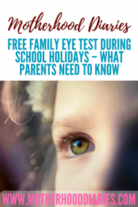 Free family eye tests during school holidays - what parents need to know