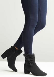 Comfort Plus Suedette Bow Detail Boot