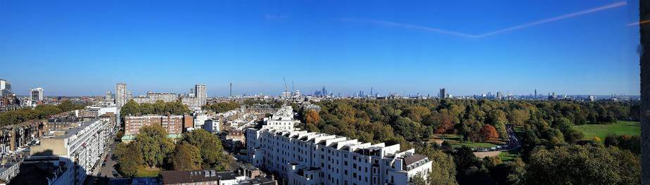 View of London from the 15th floor at Royal Lancaster London Hotel