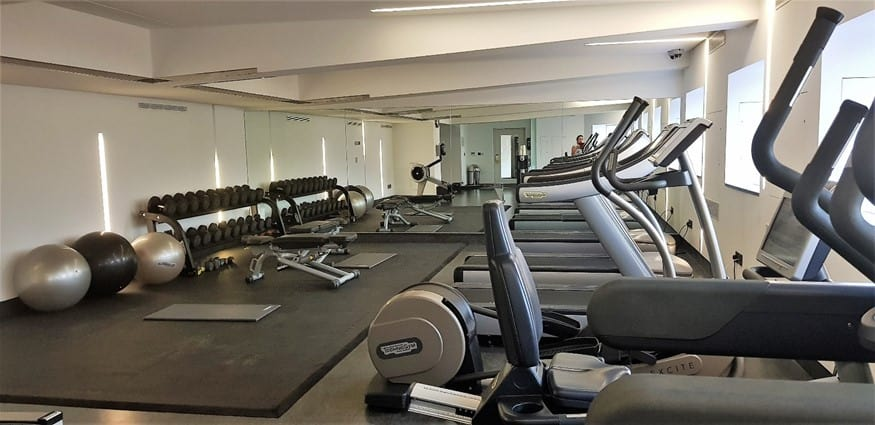 Gym at Royal Lancaster London Hotel