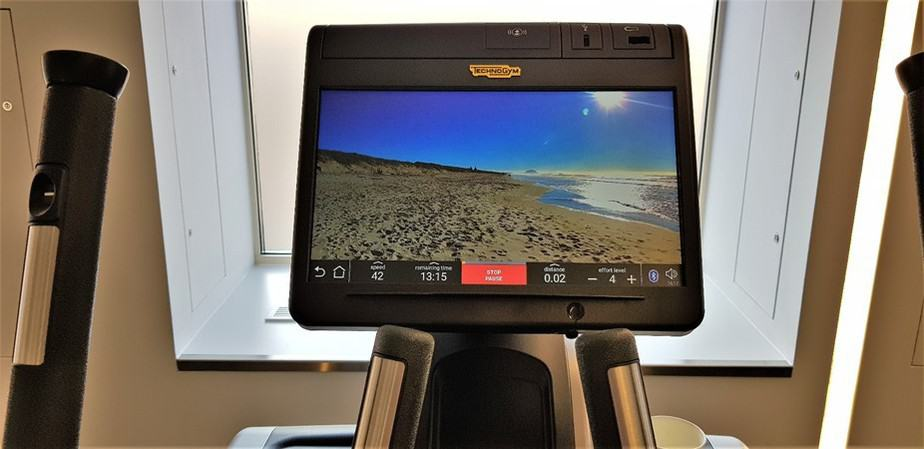 Technogym equipment at gym Royal Lancaster London Hotel