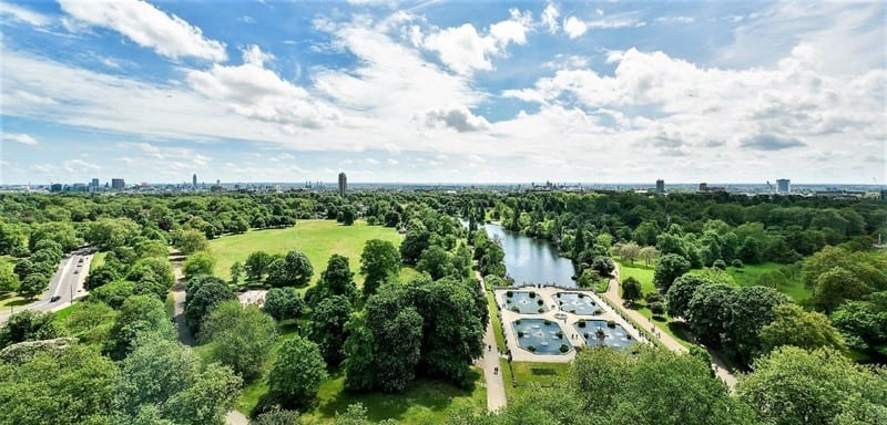 Royal Lancaster London Hotel - View of Hyde Park