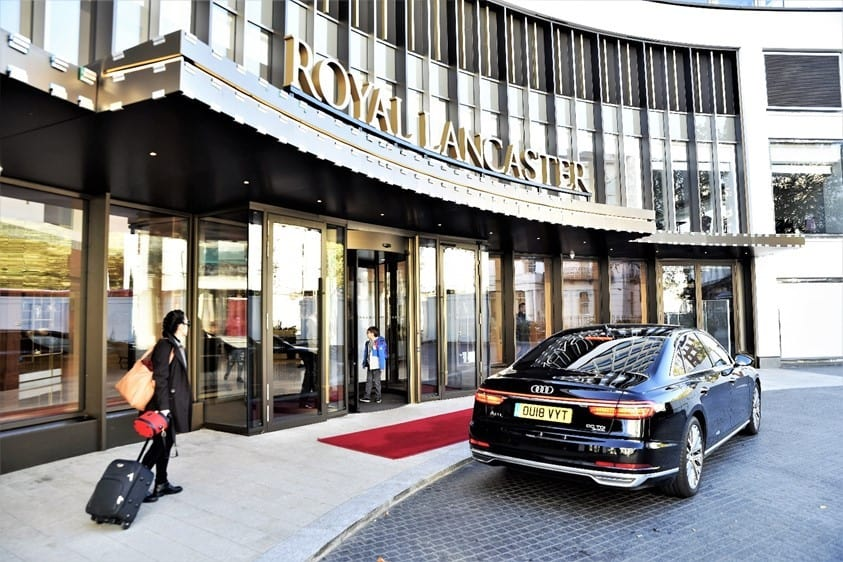 Royal Lancaster London Hotel entrance