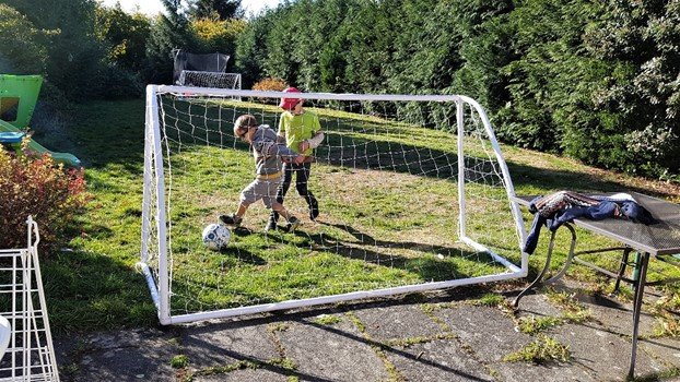 Football in the garden - goalposts from manomano.co.uk