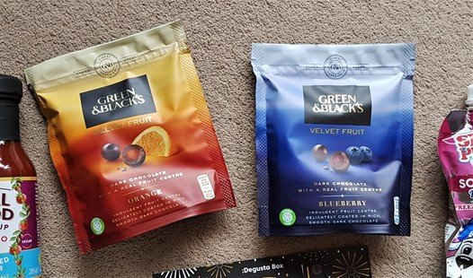 Green & Black's – Blueberry Velvet Fruit & Orange Velvet Fruit - December 2018 Degustabox Review