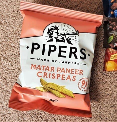 Pipers Crispeas Matar Paneer - £1 - January 2019 Degustabox Review