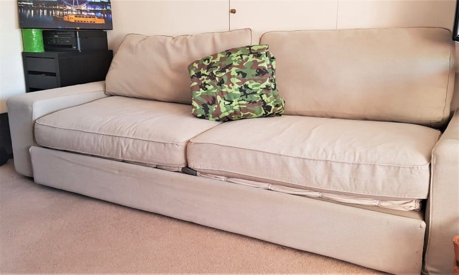 Camouflage Secret Pillow from Secret Projects that doubles up as a blanket!