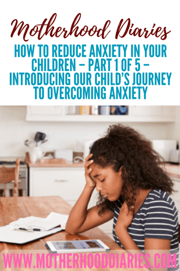 How to reduce anxiety in your children – Part 1 of 5 – Introducing our child's journey to overcoming anxiety
