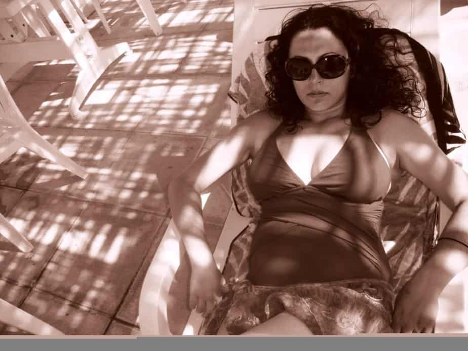 Me chilling by the pool, enjoying the North Cyprus life!
