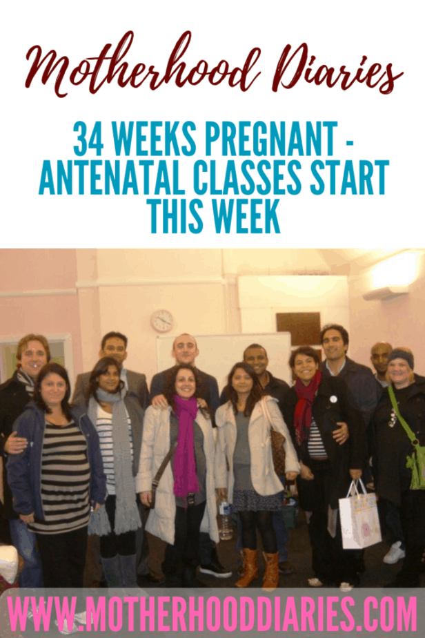 33 weeks pregnant - antenatal classes start this week