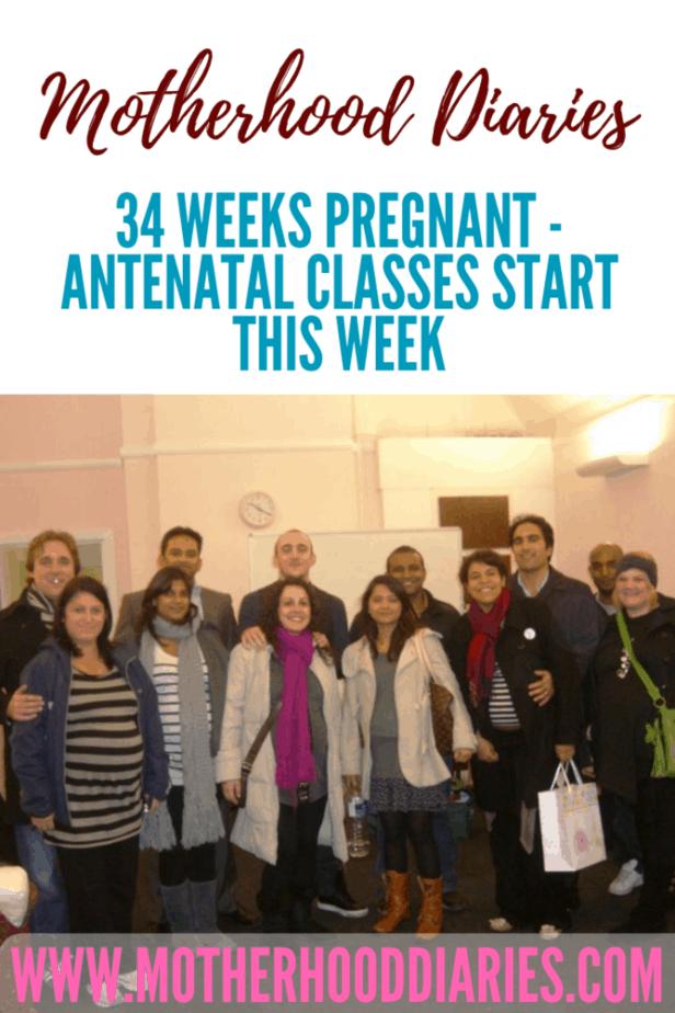 33 weeks pregnant - antenatal classes start this week